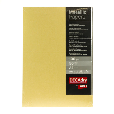DECAdry Gold Metallic Paper 50pk