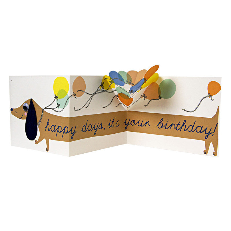 Meri Meri Card - Sausage Dog Birthday