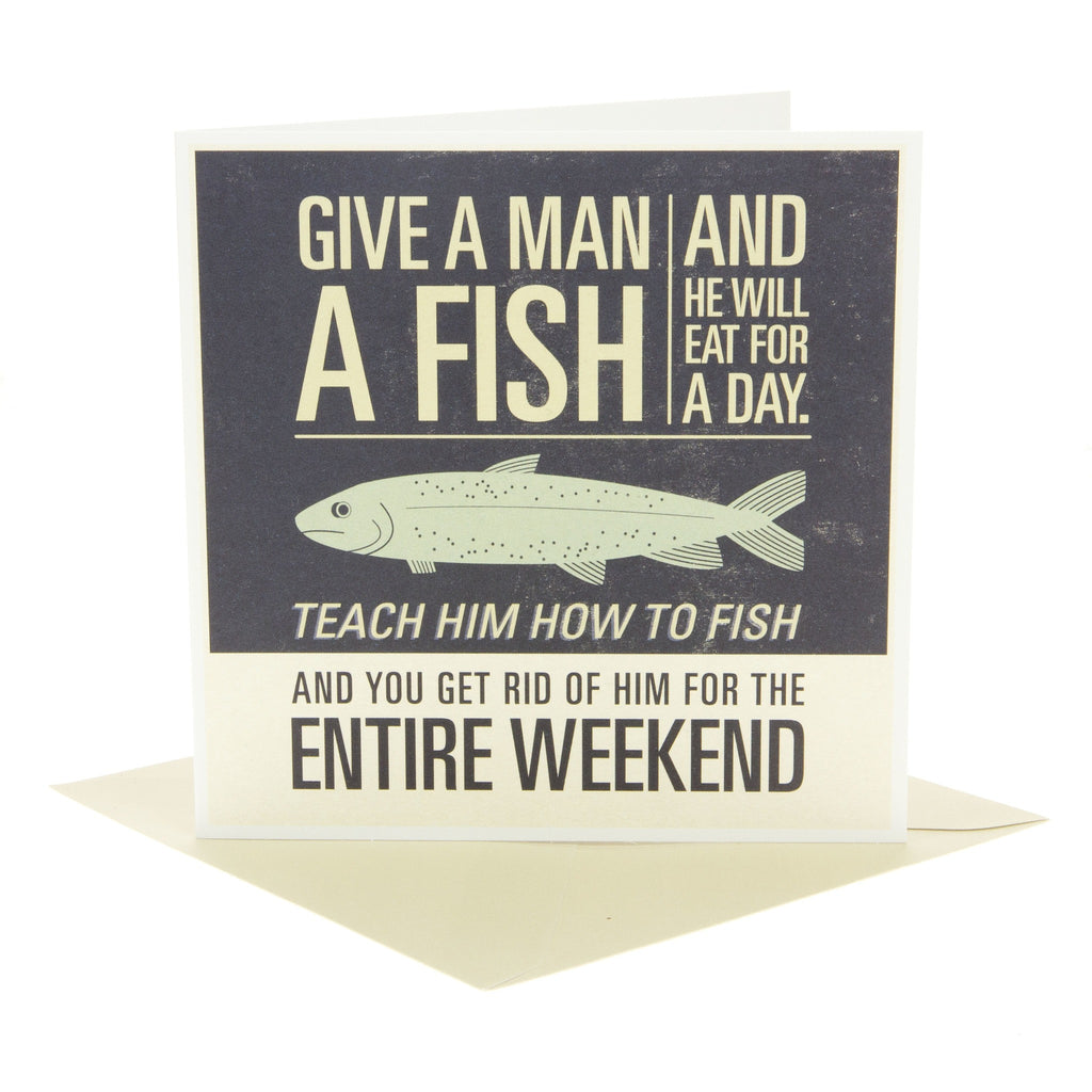 Give A Man A Fish Card
