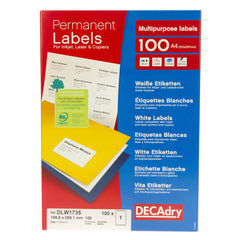 White Labels 199.6mm x 289.1mm 100pk