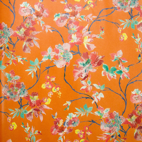 Deco Sheet Ref 645 Flowers Orange Background