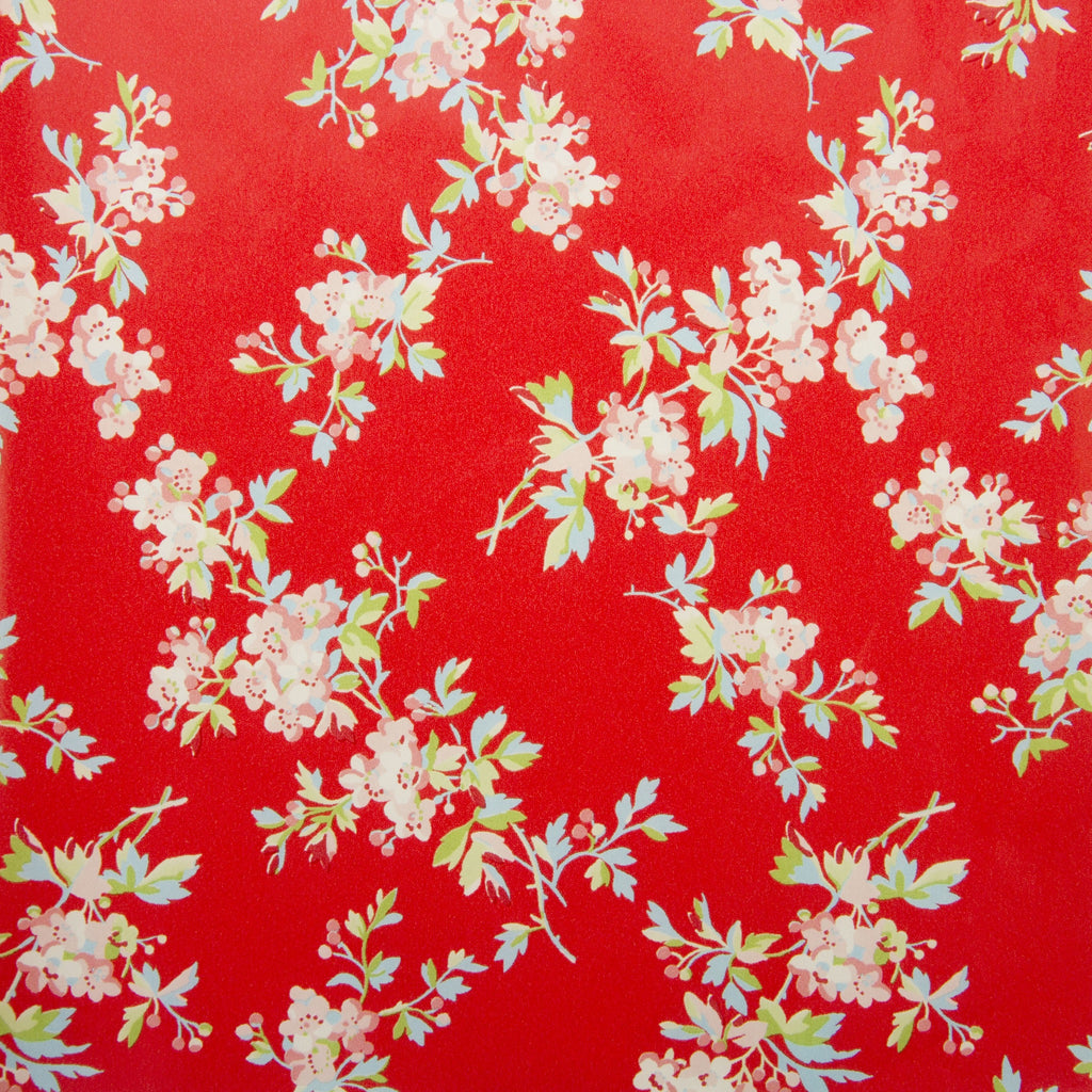 Deco Sheet Ref 658 Flowers Pink Green Blue Red Background