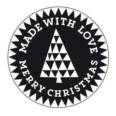 Stamp Christmas Tree Round