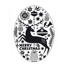 Stamp Merry Christmas Oval