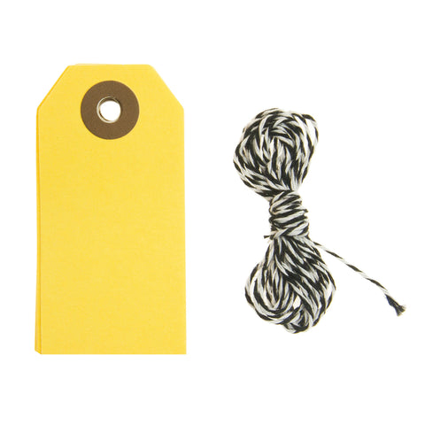 Rico Yellow Neon Gift Tags