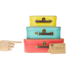 Retro Suitcase Set Of 3 Bright