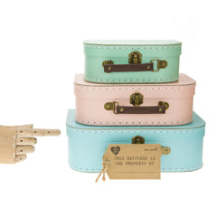 Retro Suitcase Set Of 3 Pastel