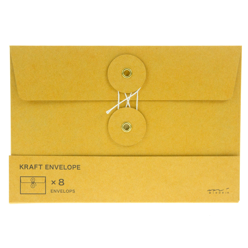 Midori Kraft Envelopes 8pk Orange