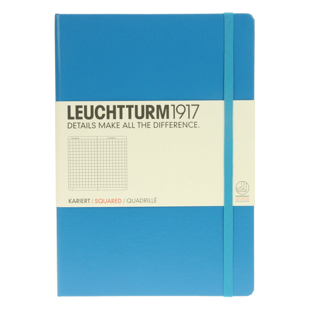 Leuchtturm 1917 Medium Notebook Squared Azure