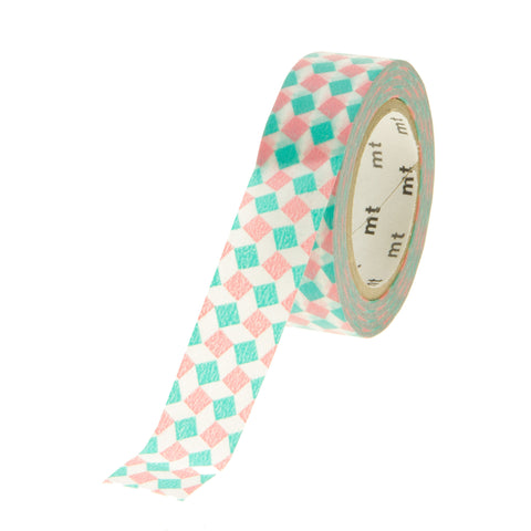 MT Tape Square Pink Green