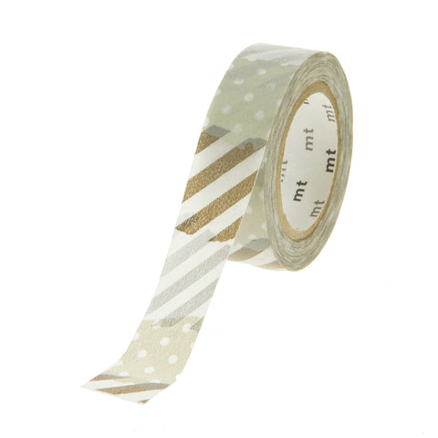 MT Tape Stripe Dot Silver