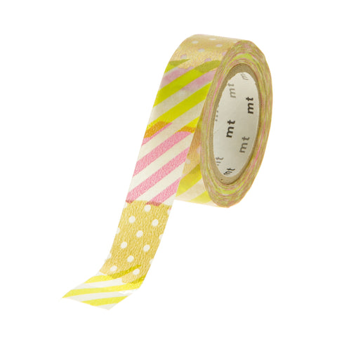 MT Tape Stripe Dot Gold Green Pink
