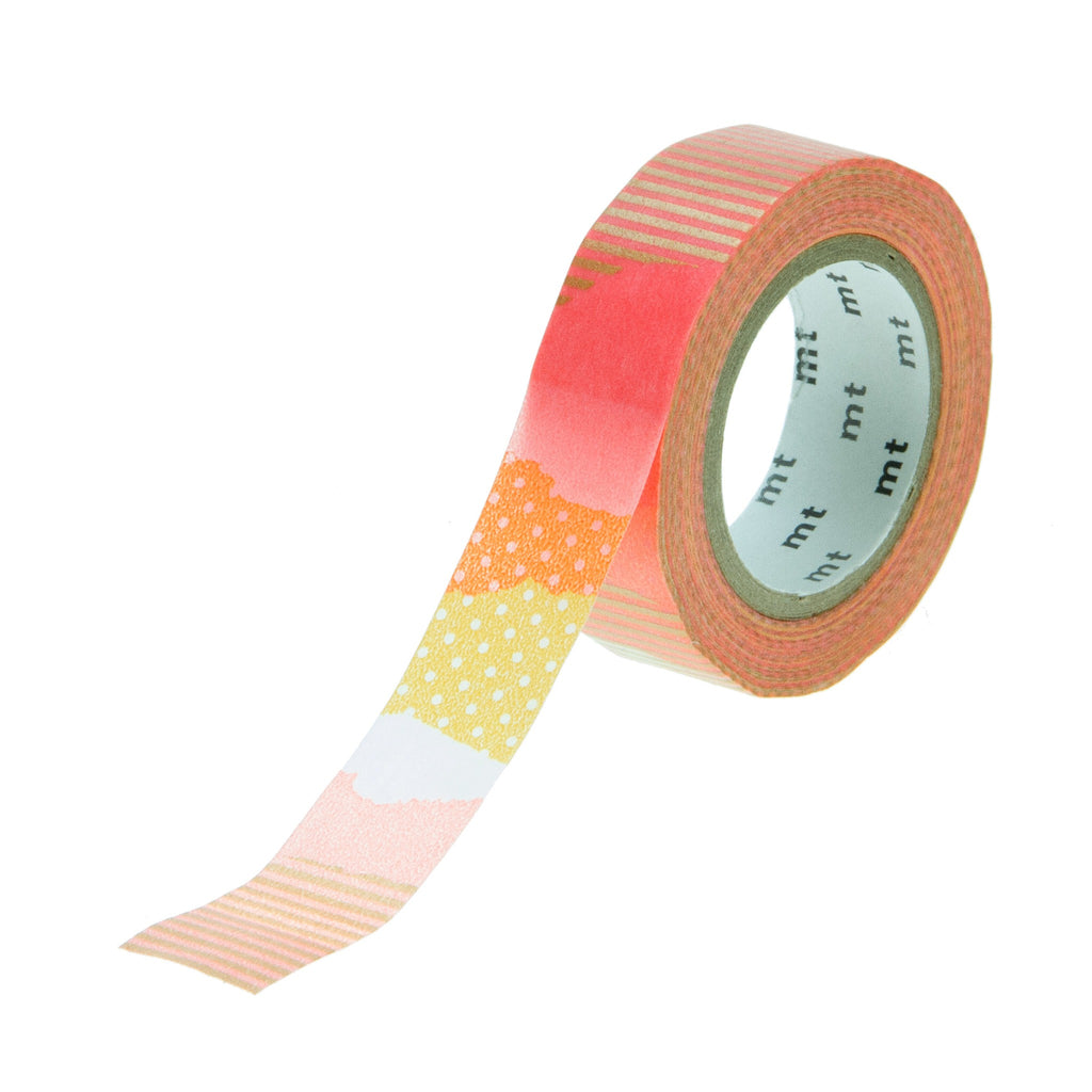 MT Tape Pattern Gold Pink Yellow