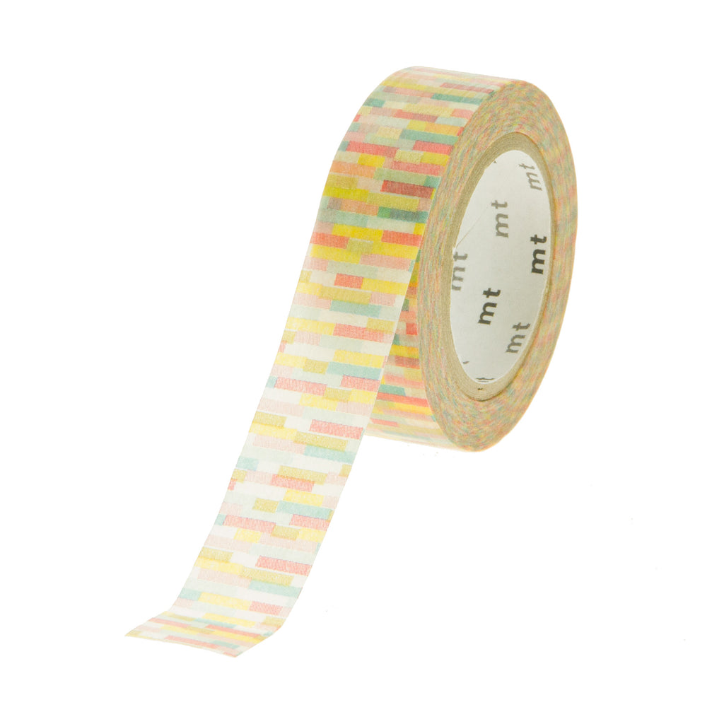 MT Tape Pattern Wine Red Green Yellow