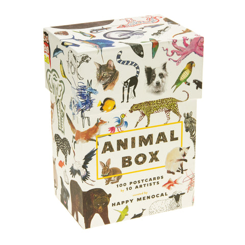 Animal Box 100 Postcards