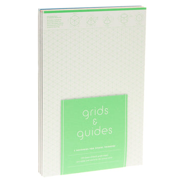 Grids And Guides Notepad 3pk