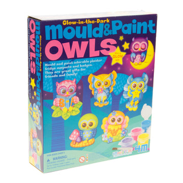 4M Mould & Paint Owls Glow In The Dark
