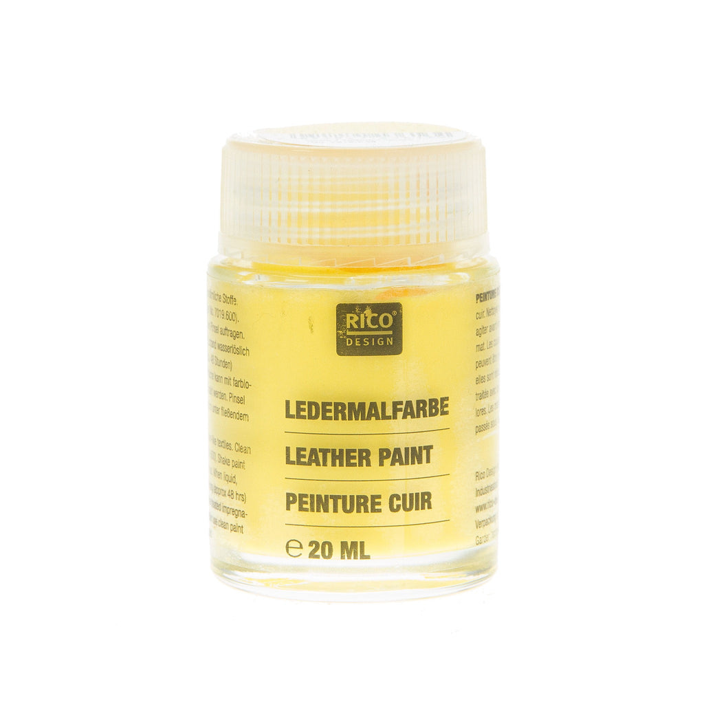 Leather Paint Yellow 20ml