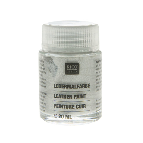 Leather Paint Silver 20ml