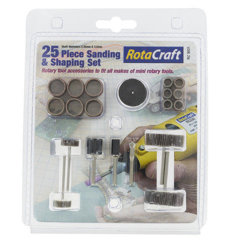 25Pc Sanding & Shaping Set