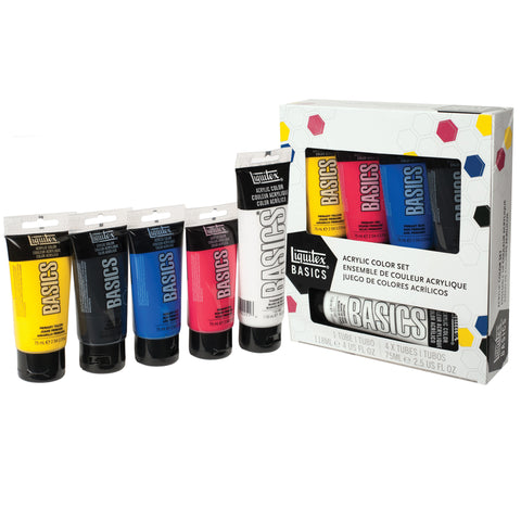 Liquitex Basics Acrylic Color Set 5pk