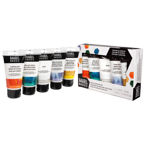 Liquitex Basics Acrylic Medium Set 5pk