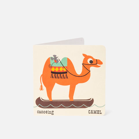 A-Z Card Canoeing Camel