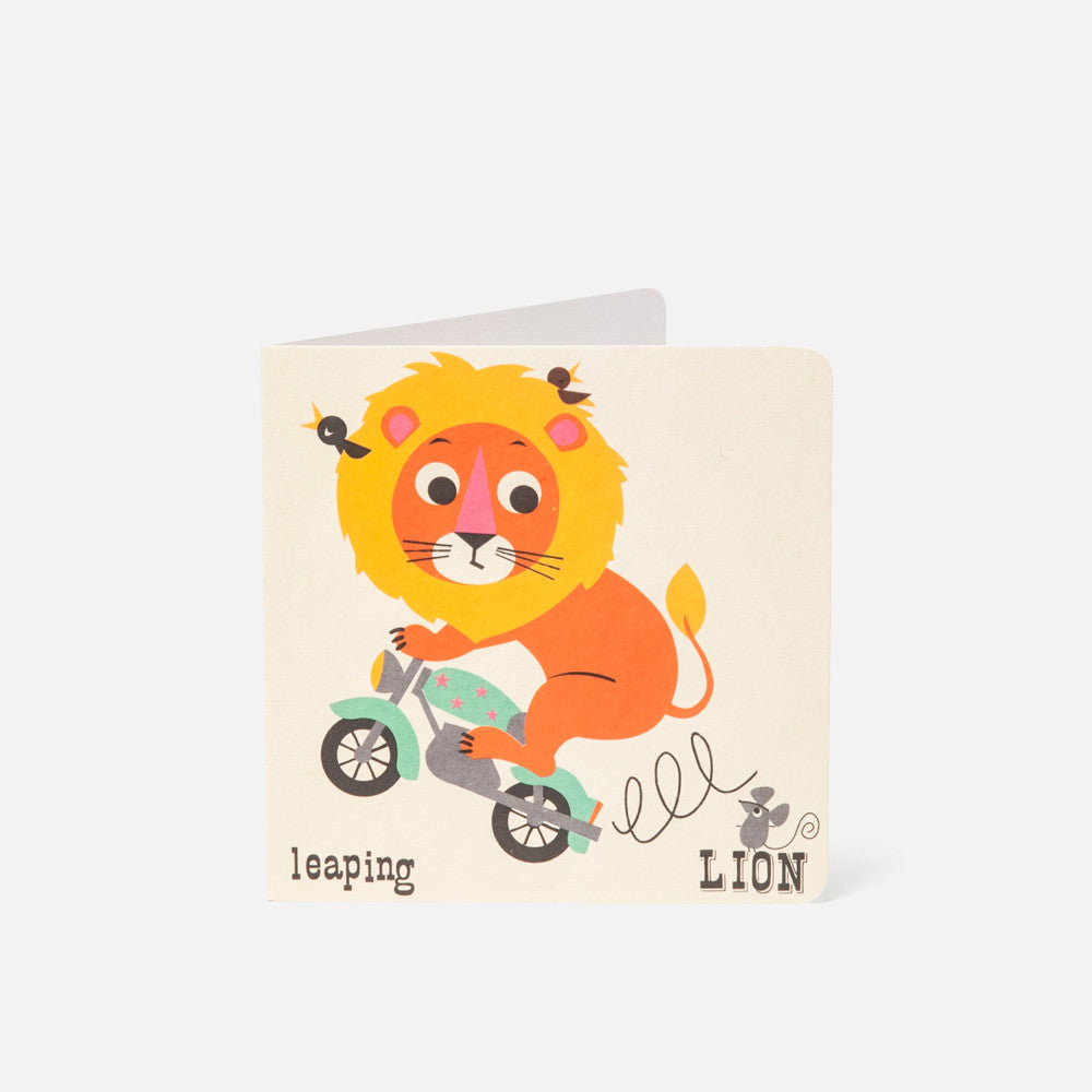 A-Z Card Leaping Lion