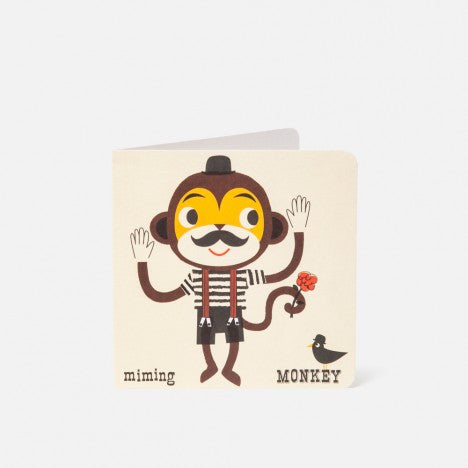 A-Z Card Miming Monkey