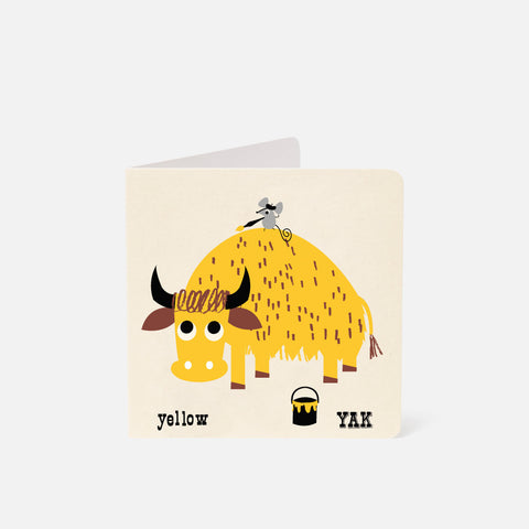 A-Z Card Yellow Yak
