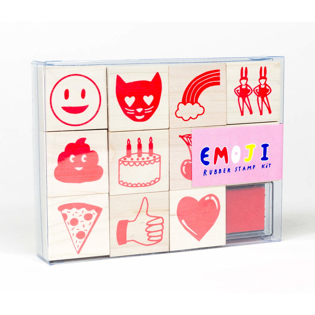 YOW Emojy Rubber Stamp Set