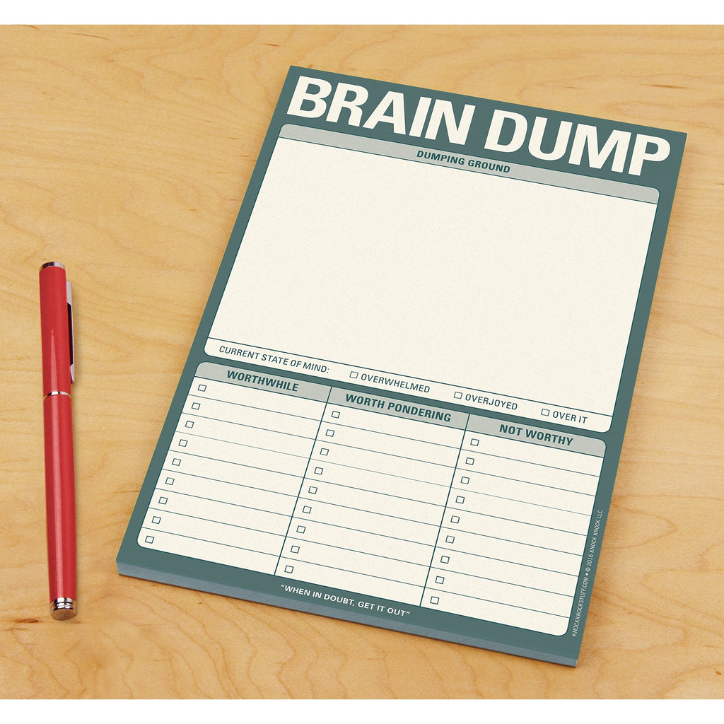 Brain Dump Notes Pad