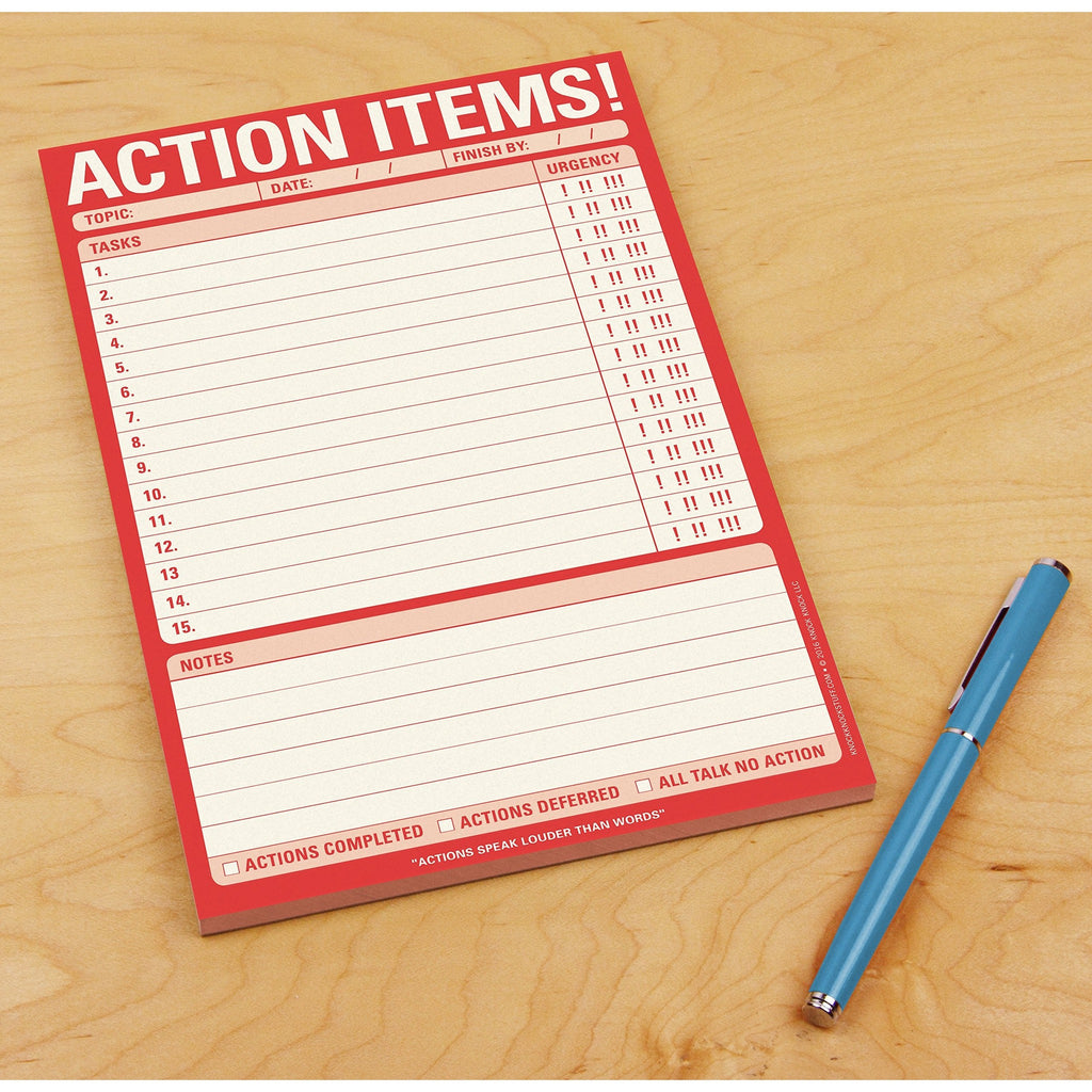 Action Items! Notes Pad