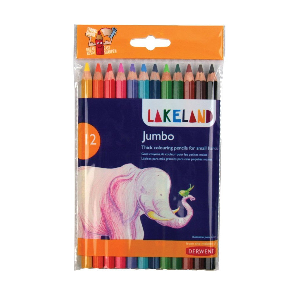 Lakeland Jumbo Coloured Pencils 12pk
