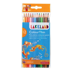 Lakeland Colour Thin Pencils 12pk
