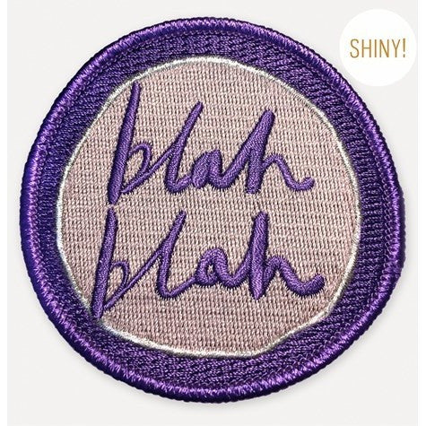 Blah Blah Iron On Patch