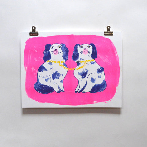 Yellow Owl Workshop - Dogs Risograph Print