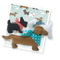Crafty Kit Co - 3 Felt Puppies