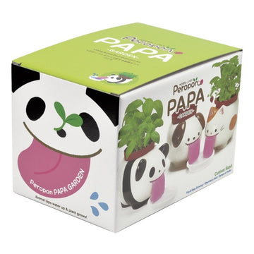Papa Peropon Licking Animal Planter - Panda / Basil