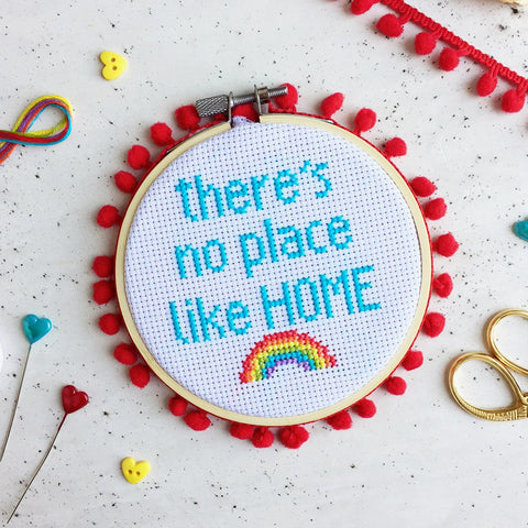 The Make Arcade - Midi Cross Stitch - No Place Like Home