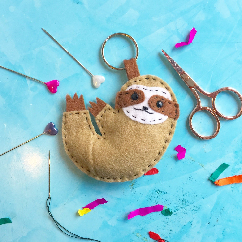 The Make Arcade - Felt Kits - Sloth Keyring
