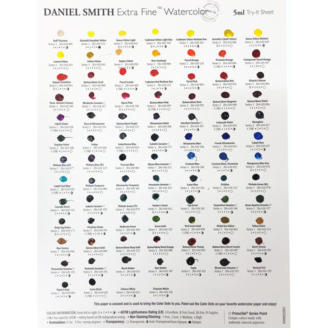 Daniel Smith Watercolour - Dot Card - 88