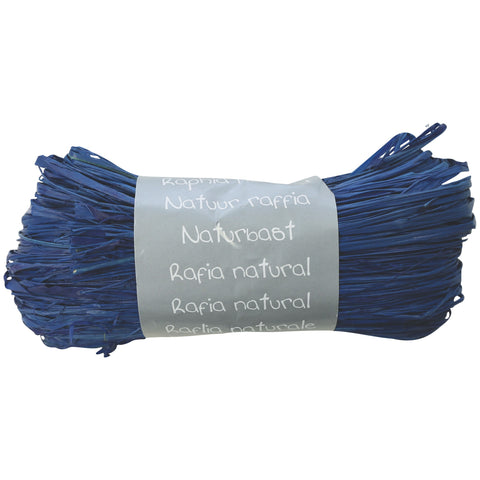 Natural Raffia Ball 50g Blue France
