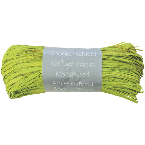 Natural Raffia Ball 50g Apple green