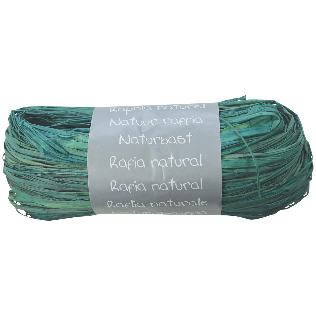Natural Raffia Ball 50g Turquoise