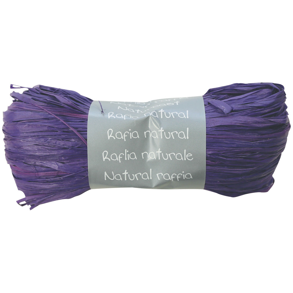Natural Raffia Ball 50g Prune