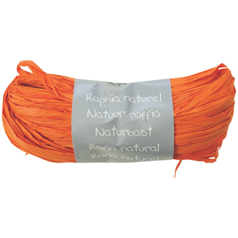 Natural Raffia Ball 50g Orange