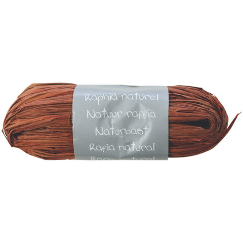 Natural Raffia Ball 50g Chocolate