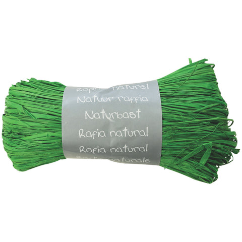 Natural Raffia Ball 50g Green