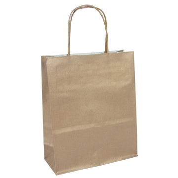 Gift Bag 18 x 7 x 24cm - Brown Kraft - Pack of 25